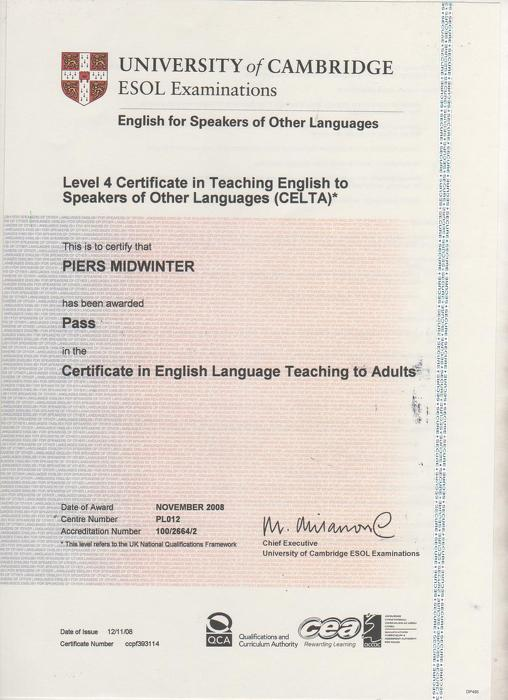 Online Tutor Piers Midwinter in Finances, Marketing, Project Management , English, English Grammar at TutorsClass.com